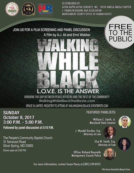 "2017-10-08 ""Walking While Black: L.O.V.E. is the Answer"" Film Screening"