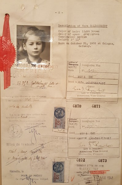 my mother's travel papers, including visa for immigration
