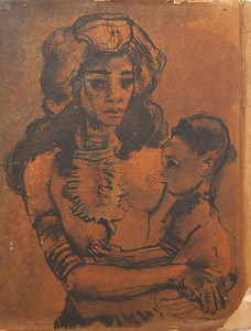 1941 Philippine woman and child