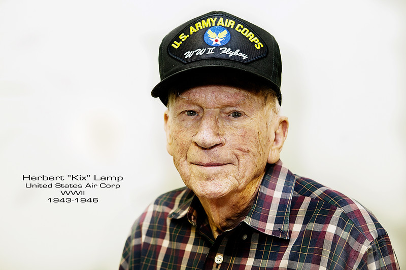 Herbert Lamp joined the Army Air Corp in 1943 and earned his wings in December of 1944, flying P-47's. He would continue to serve stateside as a trainer until 1945.