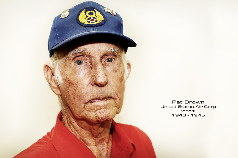 "Patrick Brown served in the 351st Squadron of the 100th bomb group in the 8th Air Force, and later in the 418th Squadron. The 100th bomb group was known as the ""Bloody 100th"" as no other combat group sustained the amount of losses that the original flight crews sustained."