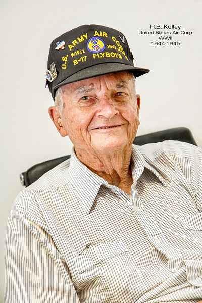 RB Kelley flew 35 missions as a Ball Turret Gunner on a B-17 during WWII in the 457th Bomb Group 748 Bomb Squad. On his final mission the pilot and crew were forced to crash land in France due to extensive damage to their engines, but miraculously the crew walked away without a scratch.