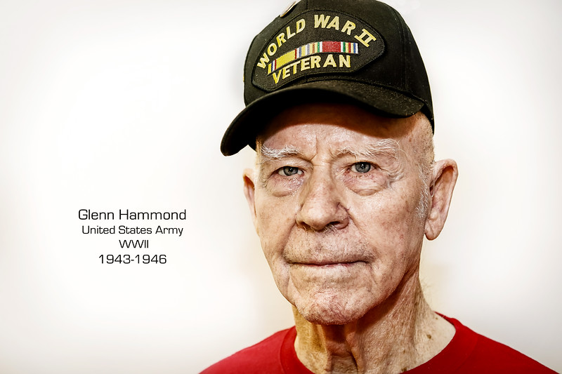 Glenn Hammond joined the Army in 1942 and served in the 3791st Truck Company transporting troops and equipment. He would eventually be transferred to the 175th Salvage Company where he was shipped to the Pacific Theater.