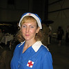 Andrea Wilson - a friend from Charlottesville who came up with us. This is a WWII Red Cross Canteen uniform - Donut Dolly.  She also does WW I Red Cross reenactment and her group makes donuts at the events - see Military Through the Ages.