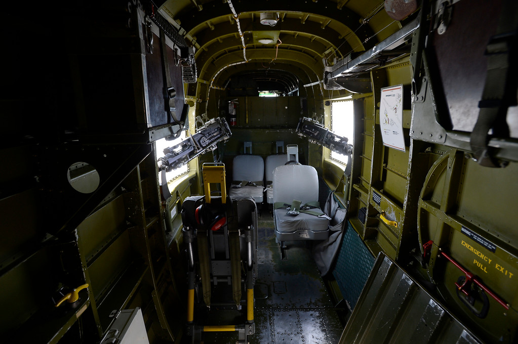 . The interior of a WWII era B-25J Bomber on Friday at the Rocky Mountain Metropolitan Airport in Broomfield. For more photos of the airplane go to dailycamera.com Jeremy Papasso/ Staff Photographer 06/08/2018