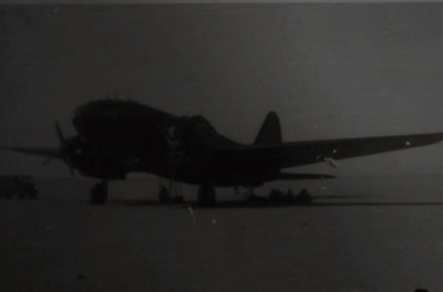Les had to put this C-47 down in the desert near Ciaro because of and engine problems.