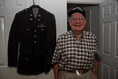 Les with his AAF dress uniform