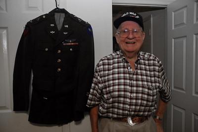 Les with his AAF dress uniform