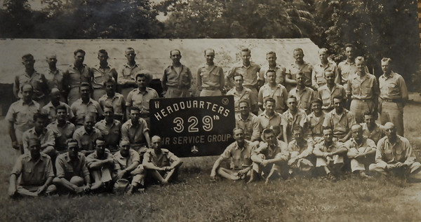 Group photo of the 329th Air Service Group