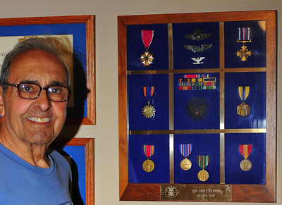 Sheldon with his USAF Decorations