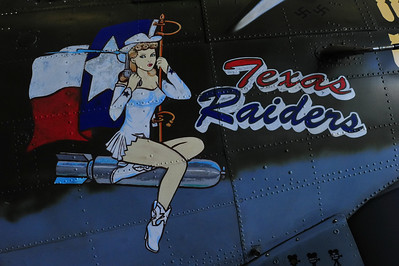 "B-17 ""Texas Raiders"" nose art"