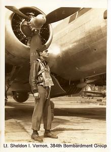 2nd Lt. Sheldon I. Vernon, 384th Bombardment Group, 8th Air Force, 1943 Grafton Underwood, England
