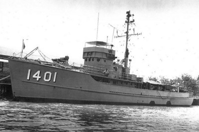 Not Arthur Janson's minesweeper (YMS-481), but one just like it.