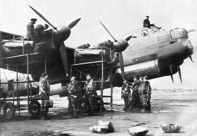 Prepping the Lancaster for another mission