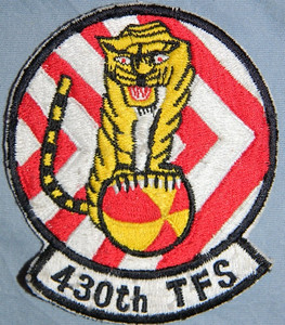 Col. Whaley's F-100 Unit Squadron patch, 430th Tactical Fighter Squadron