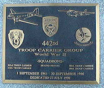 DAYTON, Ohio -- 442nd Troop Carrier Group plaque in Memorial Park at the National Museum of the United States Air Force.