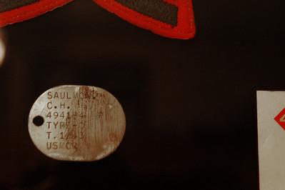 Original USMC dog tags which were made of copper