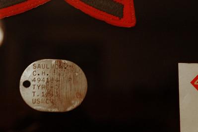 Original USMC dog tags which were made of copper
