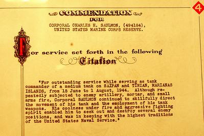 Commendation for Charles H. Saulmon
