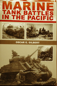 Saulmon's tank is the large cover photograph for the book; Marine Tank Battles in the Pacific
