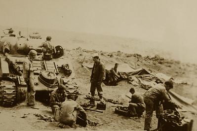 Saulmon's tank on Iwo Jima