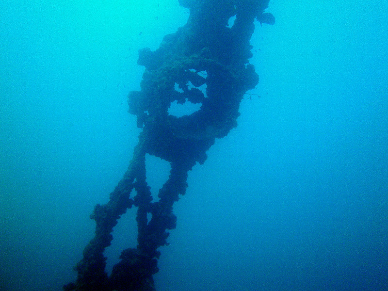 One of the ship's uprights.