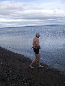 February 5th, less than a week to go! Rafal is in Chile training in the pool and The Strait of Magellan