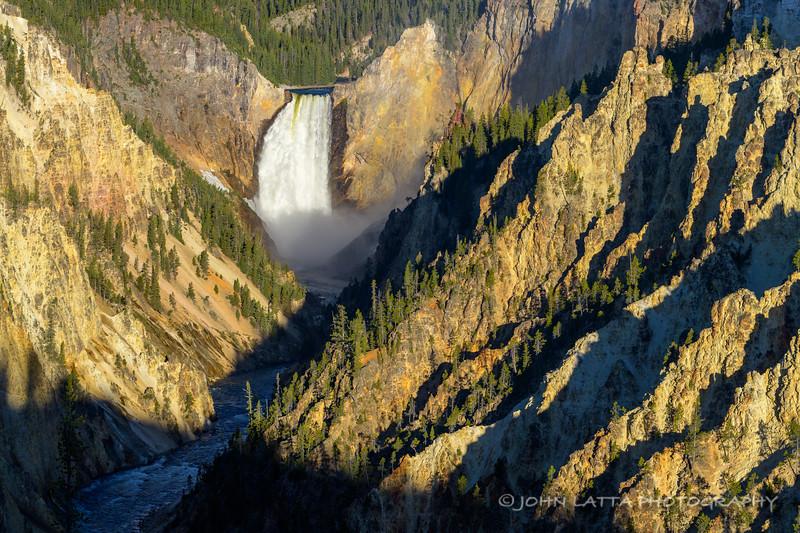Lower Yellowstone Falls at Sunrise