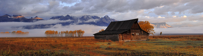 The Grand Teton National Park, Wy (Mormon Row) <br /> <br /> <br /> <br /> THANK YOU<br /> When i got hear to shoot this barn there was about 15 to 20 photographers,  it was still dark and the weather was bad,when i took this they all left because there was no sunrise, I wanted to wait and see and i am glad i did, So what i learned was to be Patient, wait and enjoy life, You never know what you might see<br /> Photo # 76