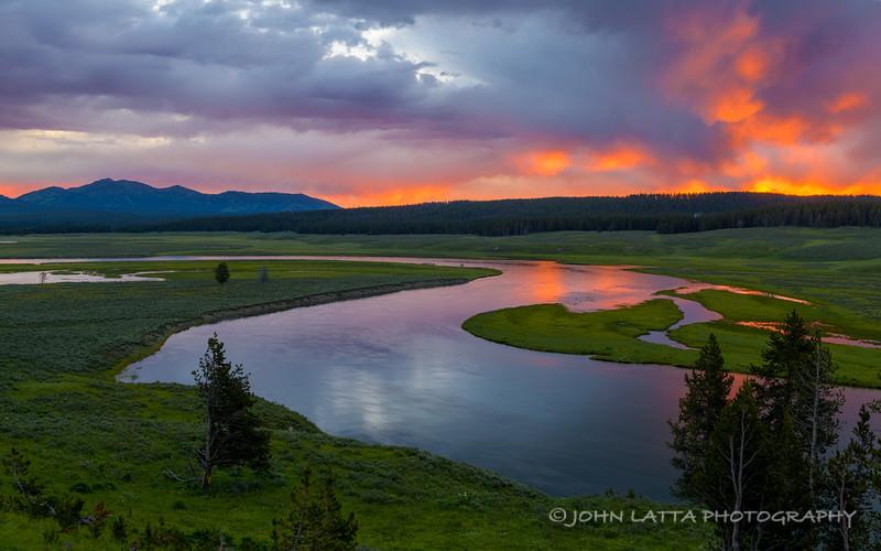 Hayden Valley, Yellowstone River at Sunrise