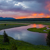 Hayden Valley, Yellowstone River at Sunrise
