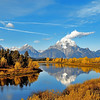 The Grand Tetons,Oxbow Bend,This was the type of day you dream of seeing