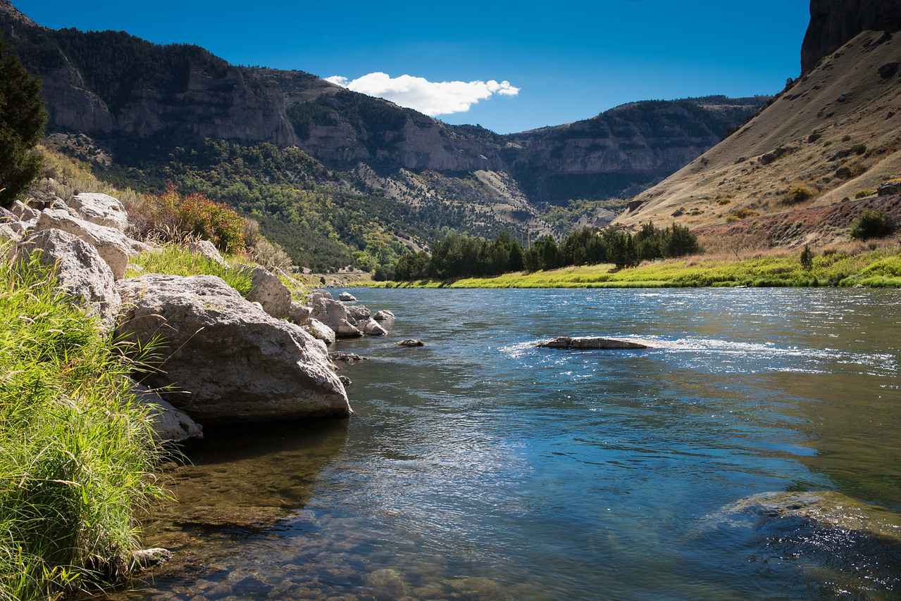 Fly fishing Wyoming on the Big Horn River © Jim Klug Outdoor Photography 2014