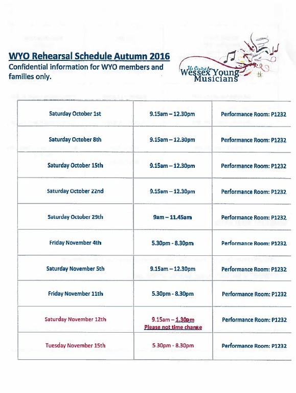 WYO Rehearsal Schedule Autumn 2017 Page 1