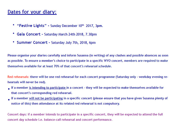 WYO Rehearsal Schedule Autumn 2017 Page 2