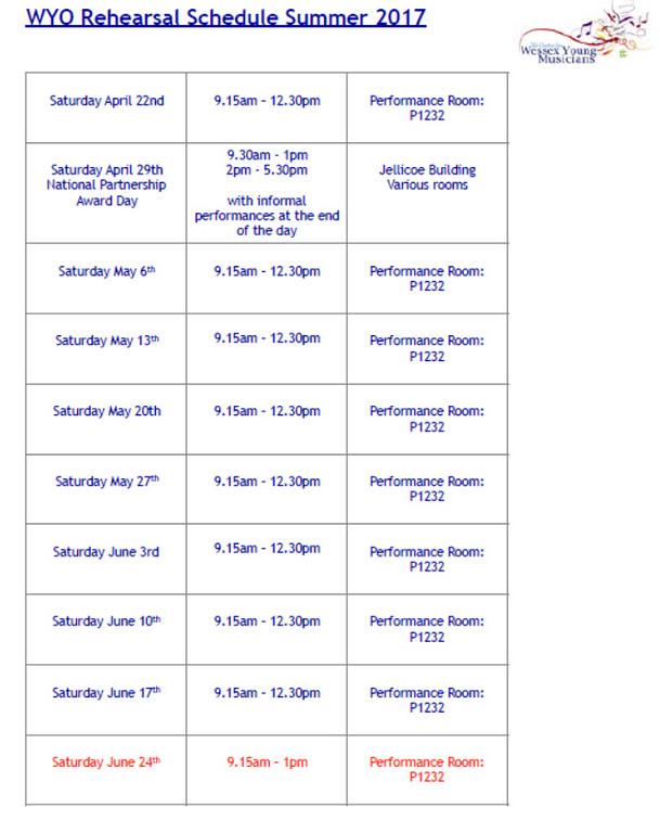 WYO Rehearsal Schedule Summer 2017 Page 1