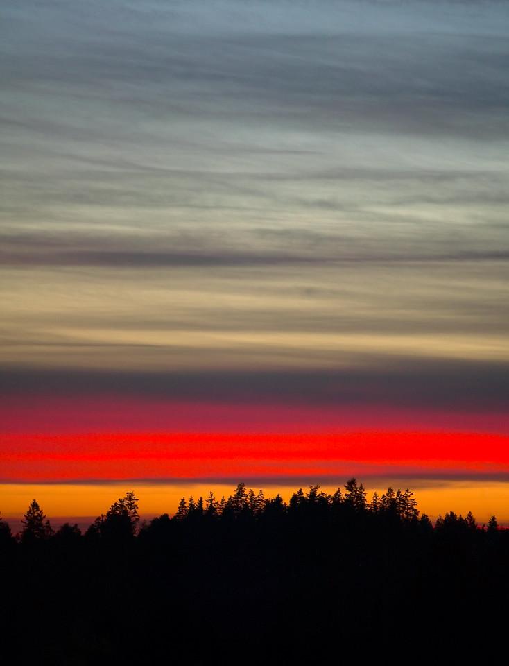 Burning Skies in Woodinville, WA