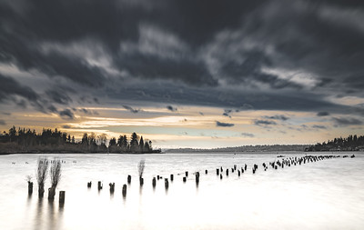 Stormy winter afternoon over Lake Washington