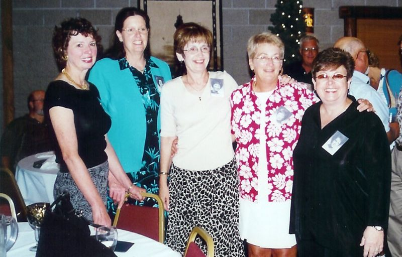 Robin Meagher, Barb Small, Rosie English, Joan Oberle, & Elaine Essig - they haven't changed have they!