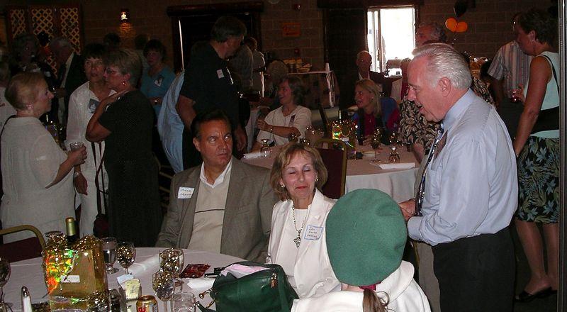 Sue Gavin, Judy Osborn, Joyce Zetterlind: Don Clayberg, Gail Gerber, Karen (Ed) Erickson (background center), Jan Zwetz-'65 Henning & husband, Barbara Zwetz, Chuck Empey