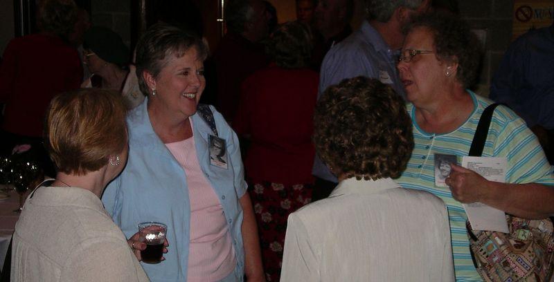 Sue Gavin, Kathy Lorengo, _____, Cynthia Bayler