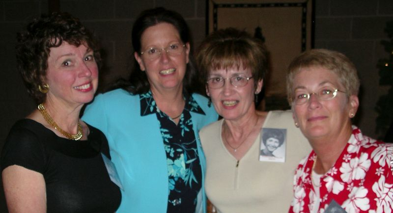 Robin Meagher, Barb Small, Rosie English, Joan Oberle
