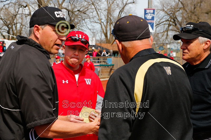 Sunday, April 6, 2014 - Wabash College Little Giants versus The College of Wooster Fightin' Scots played in VA Memorial Stadium located in Chillicothe, Ohio