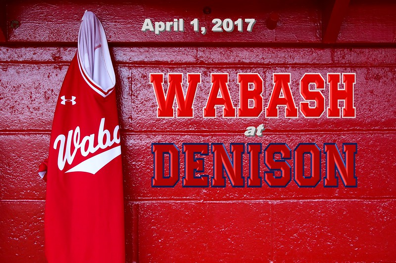Wabash College Little Giants at Denison University Big Red - Saturday, April 1, 2017