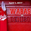 Wabash College Little Giants at Denison University Big Red - Saturday, April 1, 2017