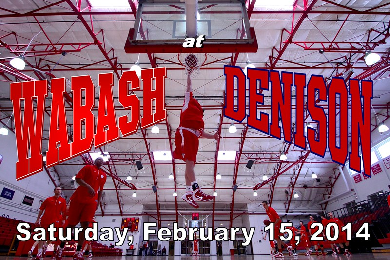 Saturday, February 15, 2014 - Wabash College Little Giants at Denison University Big Red