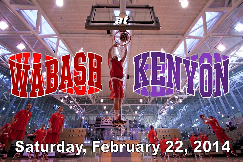 Saturday, February 22, 2014 - Wabash College Little Giants at Kenyon College Lords located in Gambier, Ohio