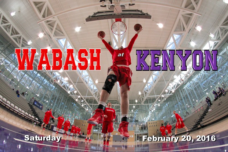Wabash College Little Giants at Kenyon College Lords - Saturday, February 20, 2016