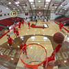 Pregame Warm-ups - Wabash College Little Giants at Denison University Big Red - Saturday, February 13, 2016