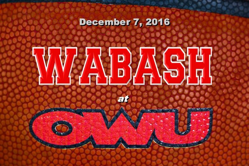 Wabash College Little Giants at Ohio Wesleyan University Battlin' Bishops - Wednesday, December 7, 2016